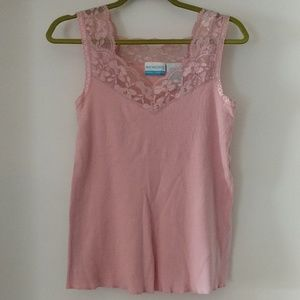 NWOT Pink lace top